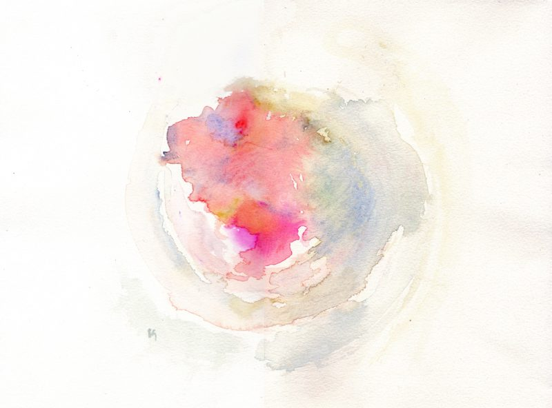 bowl of content watercolour painting - karen shear