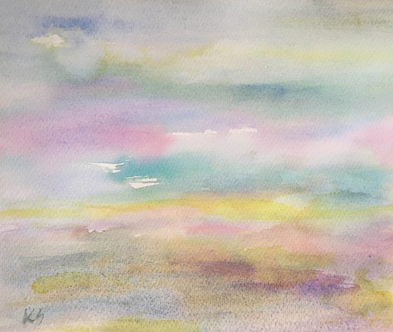 dusk watercolour painting karen shear