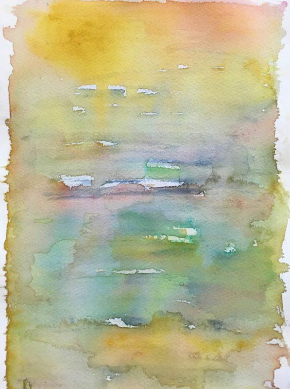feel the heat watercolour painting - karen shear art