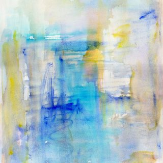 inside the big blue watercolour painting karen shear