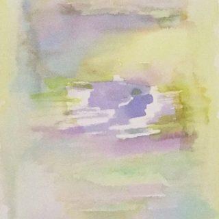 jacarandas in the midst watercolour painting karen shear art