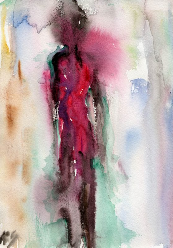 masai I watercolour painting karen shear