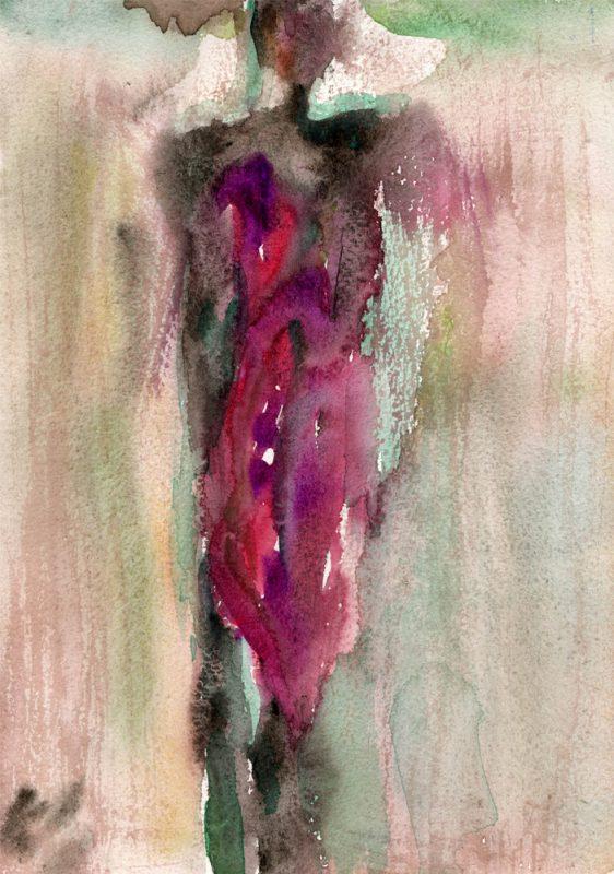 masai II watercolour painting karen shear