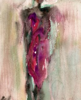 masai II watercolour painting karen shear
