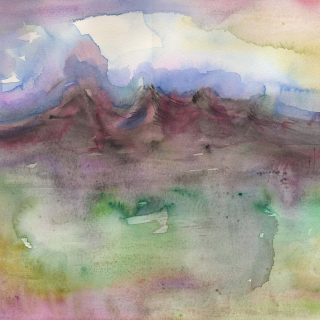 ngonghills II watercolour painting - karen shear