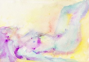 nude purple watercolour painting karen shear art