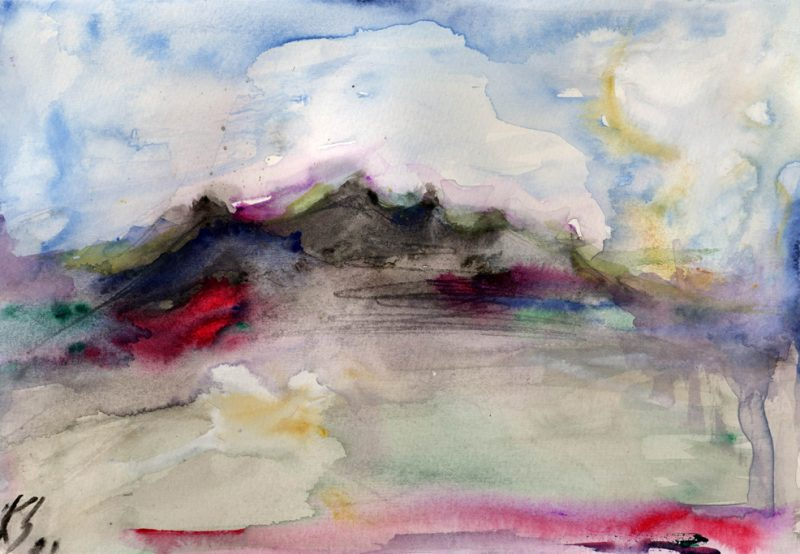 out of africa - watercolour painting karen shear