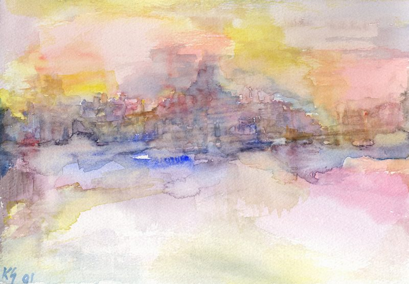 paris prague watercolour painting karen shear