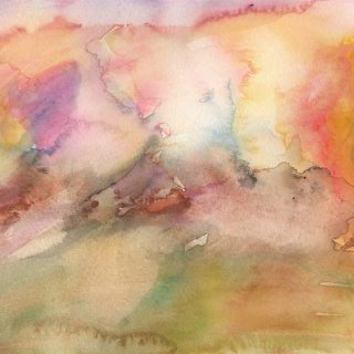 smoking hills watercolour painting karen shear art