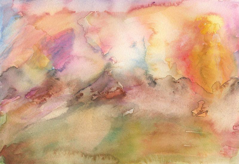 smoking hills watercolour painting karen shear art