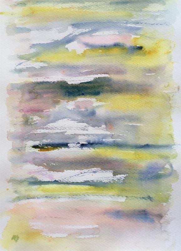 sun risings watercolour painting karen shear