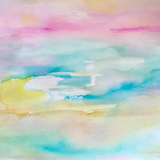 tropical calm watercolour painting karen shear