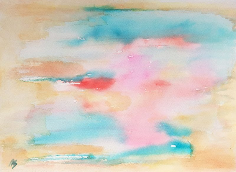 tropical waters watercolour-painting-karen-shear