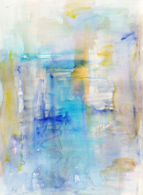 inside the big blue watercolour - karen shear art